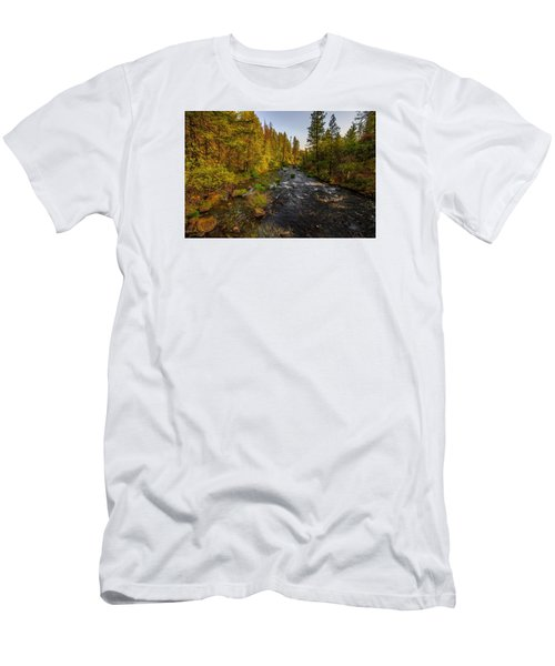 Burney Falls Hdr Men's T-Shirt (Athletic Fit)