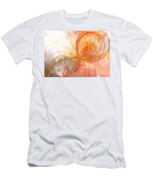 Burning Treble Clef Men's T-Shirt (Slim Fit) by Martin Capek