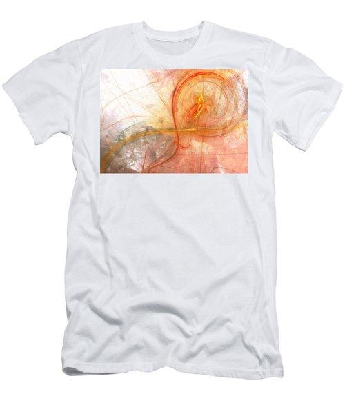 Burning Treble Clef Men's T-Shirt (Athletic Fit)