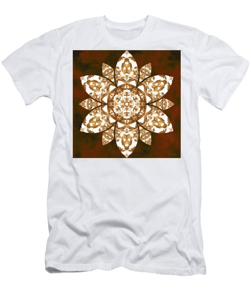 Men's T-Shirt (Athletic Fit) featuring the digital art Burnt Geomatrix by Derek Gedney