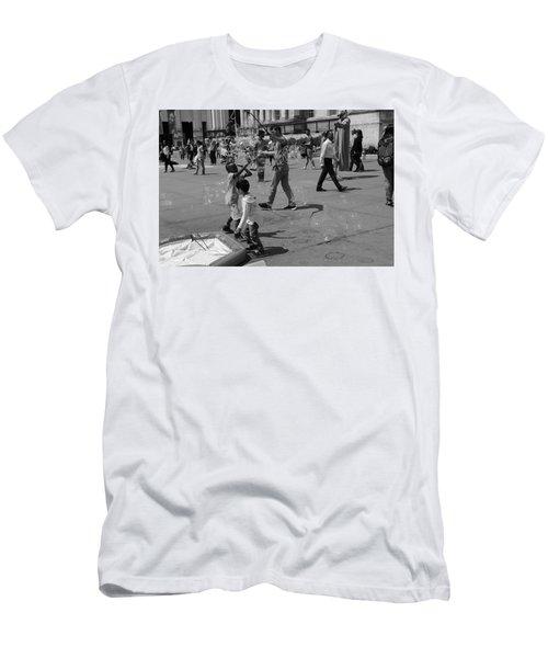 Burst Your Bubble Men's T-Shirt (Athletic Fit)