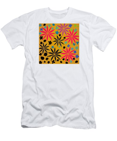 Men's T-Shirt (Slim Fit) featuring the mixed media Bursting Open by Gloria Rothrock