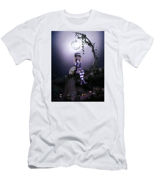 Men's T-Shirt (Slim Fit) featuring the digital art Busy Doing Nothing by Shanina Conway