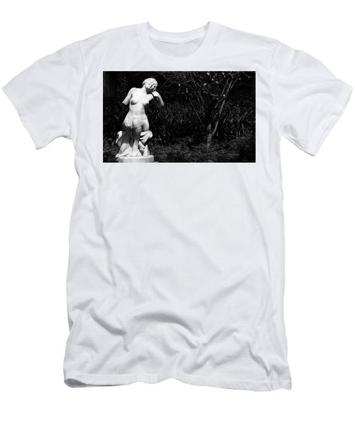 Men's T-Shirt (Slim Fit) featuring the photograph But Still Smiling by Lorraine Devon Wilke