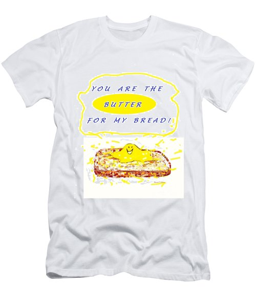 Men's T-Shirt (Slim Fit) featuring the drawing Butter For My Bread by Denise Fulmer