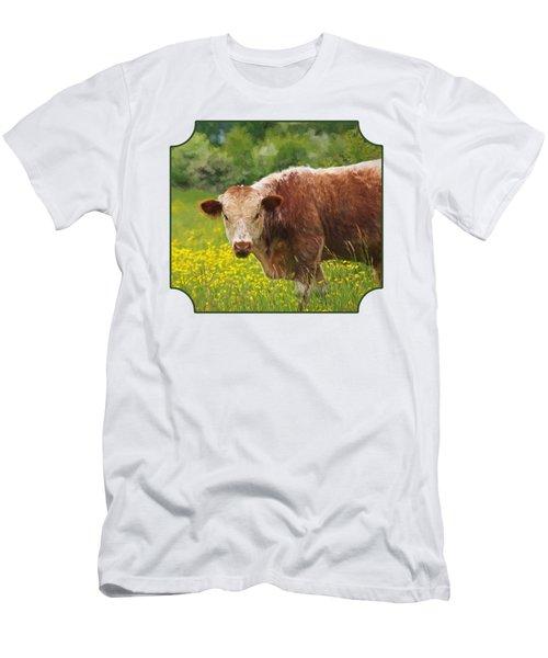 Buttercup - Brown Cow Men's T-Shirt (Athletic Fit)