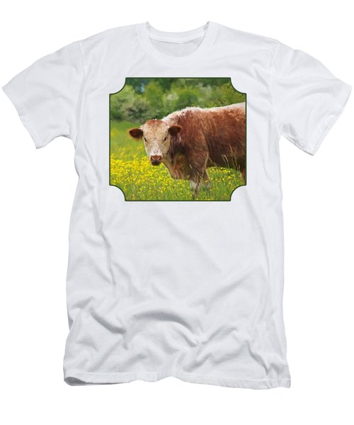 Buttercup - Brown Cow Men's T-Shirt (Athletic Fit)