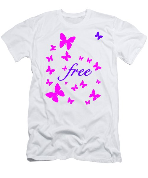 Butterflies Free Men's T-Shirt (Slim Fit)