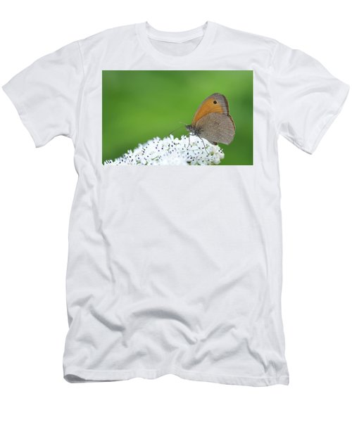 Men's T-Shirt (Slim Fit) featuring the photograph Butterfly by Bess Hamiti