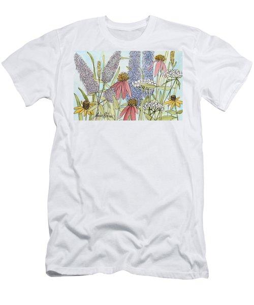 Butterfly Bush In Garden Men's T-Shirt (Athletic Fit)