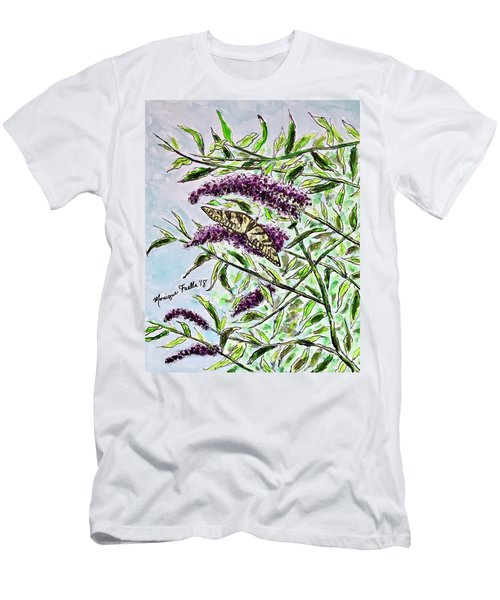 Butterfly Bush Men's T-Shirt (Athletic Fit)