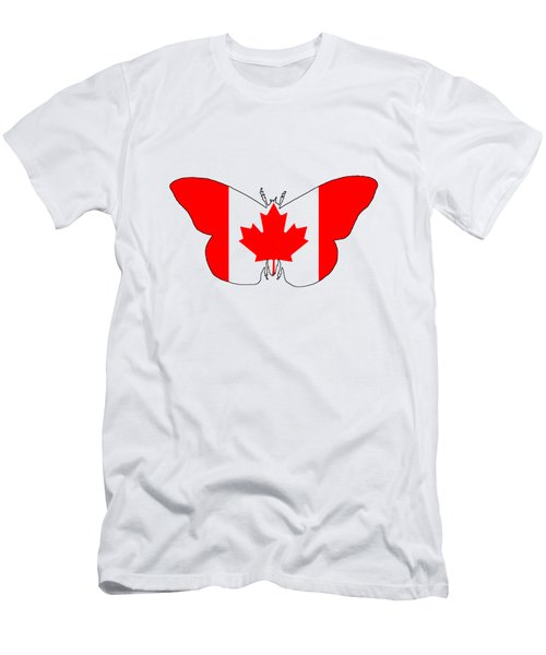 Butterfly Canada  Men's T-Shirt (Athletic Fit)
