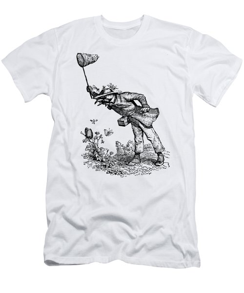 Butterfly Hunting Grandville Transparent Background Men's T-Shirt (Slim Fit) by Barbara St Jean