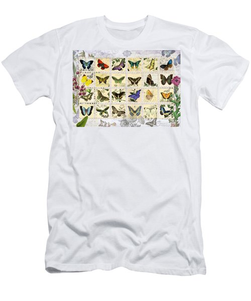 Butterfly Maps Men's T-Shirt (Athletic Fit)