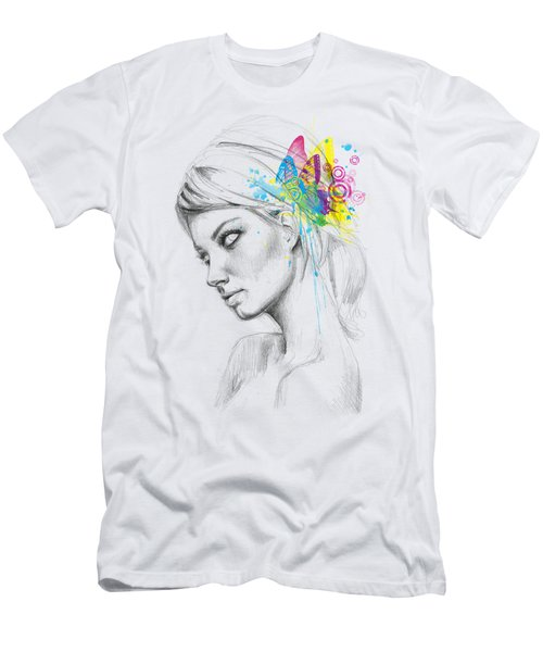 Butterfly Queen Men's T-Shirt (Slim Fit) by Olga Shvartsur