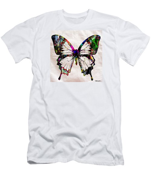 Butterfly Rainbow Men's T-Shirt (Athletic Fit)