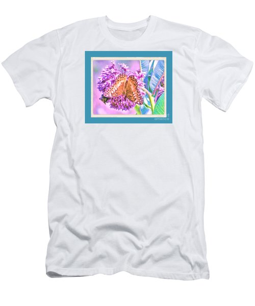 Men's T-Shirt (Slim Fit) featuring the photograph Butterfly Summer 2 by Shirley Moravec