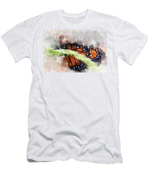 Butterfly Watercolor Men's T-Shirt (Athletic Fit)