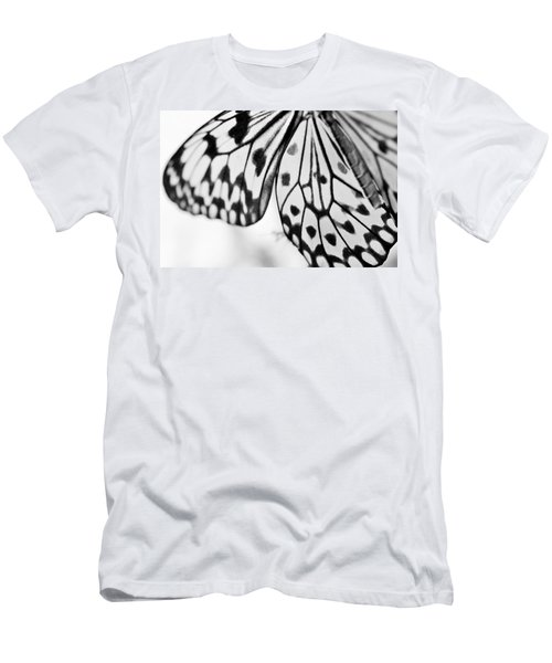 Butterfly Wings 3 - Black And White Men's T-Shirt (Athletic Fit)