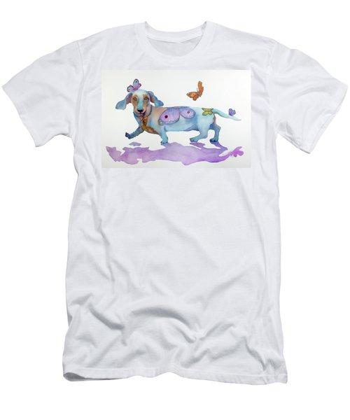 Butterfly Doxie Doo Men's T-Shirt (Slim Fit) by Marcia Baldwin