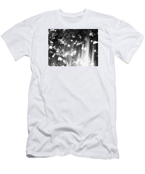 Men's T-Shirt (Slim Fit) featuring the photograph Bw Gossamer Glow by Megan Dirsa-DuBois