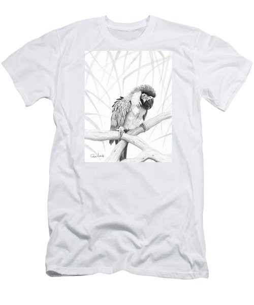 Bw Parrot Men's T-Shirt (Slim Fit) by Phyllis Howard