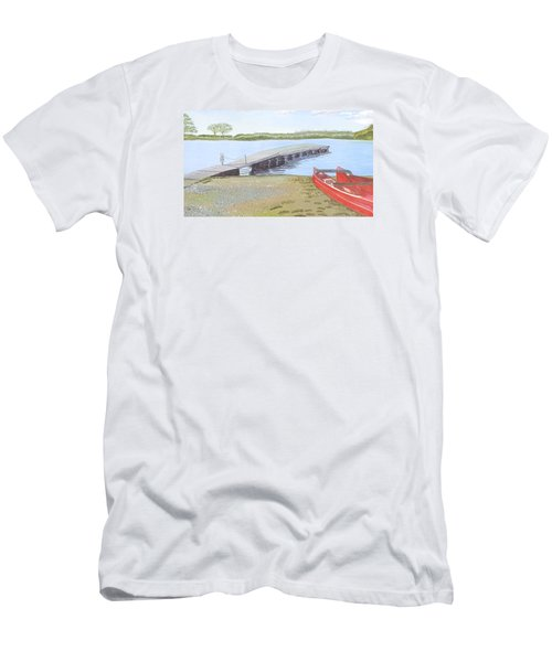 By The Lake Men's T-Shirt (Slim Fit) by Joanne Perkins