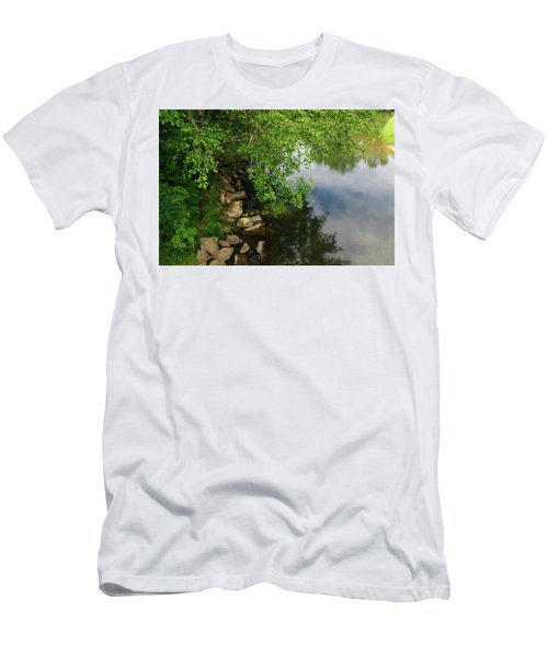 Men's T-Shirt (Athletic Fit) featuring the photograph By The Still Waters by Tikvah's Hope