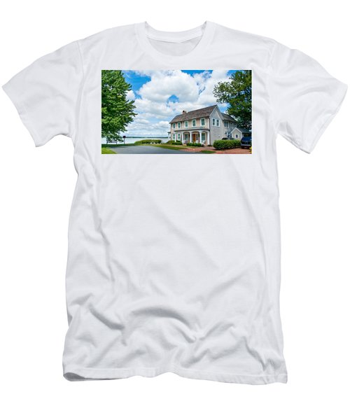 Men's T-Shirt (Athletic Fit) featuring the photograph By The Water In Oxford Md by Charles Kraus