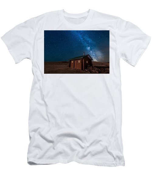 Cabin In The Night Men's T-Shirt (Athletic Fit)