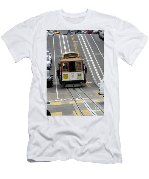 Men's T-Shirt (Slim Fit) featuring the photograph Cable Car by Steven Spak