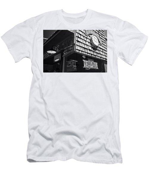 Bar B Que Caboose Cafe Men's T-Shirt (Athletic Fit)