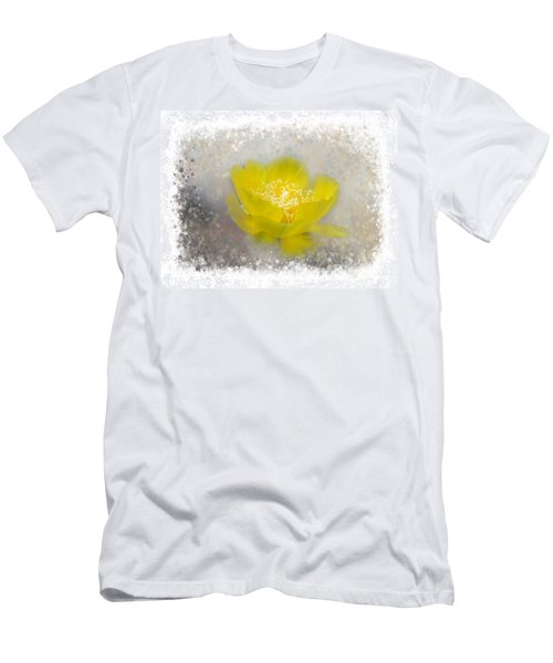 Men's T-Shirt (Athletic Fit) featuring the photograph Cactus Flower by Judy Hall-Folde