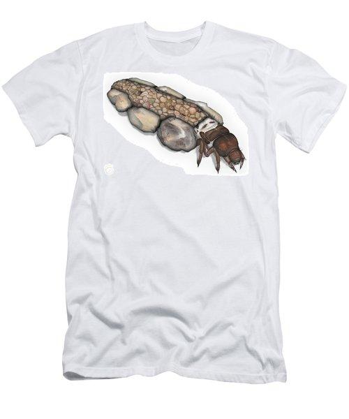 Caddisfly Larva Nymph Goeridae_silo_pallipes -  Men's T-Shirt (Athletic Fit)
