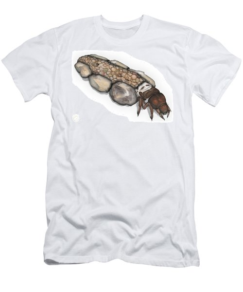 Caddisfly Larva Nymph Goeridae_silo_pallipes -  Men's T-Shirt (Athletic Fit)