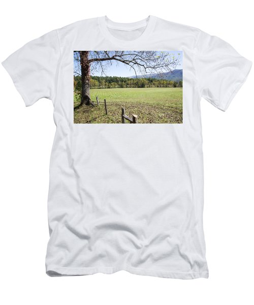 Cades Fence Men's T-Shirt (Slim Fit) by Ricky Dean