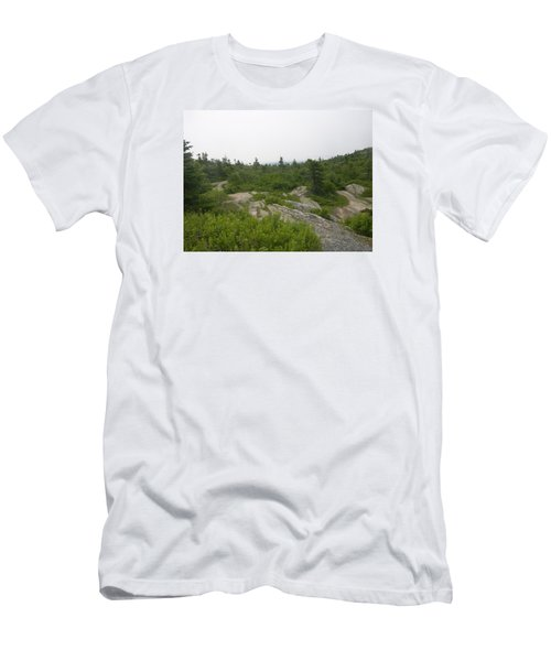 Cadillac Mountain Men's T-Shirt (Slim Fit) by Helen Haw