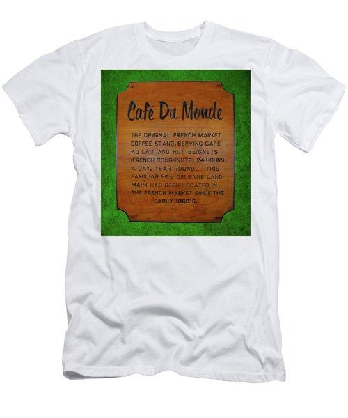 Cafe Du Monde Sign  Men's T-Shirt (Athletic Fit)