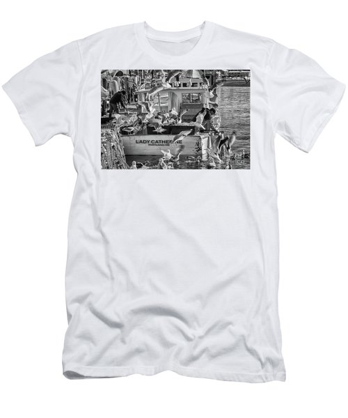 Cafe Lady Catherine Black And White Men's T-Shirt (Athletic Fit)