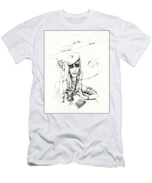 Cafe Lady Men's T-Shirt (Athletic Fit)