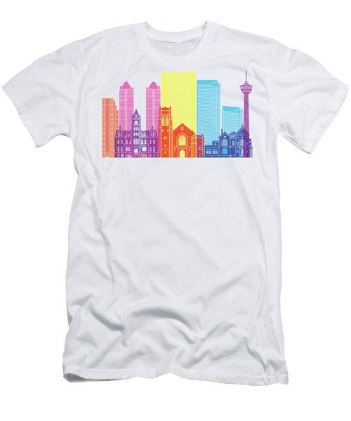 Calgary V2 Skyline Pop Men's T-Shirt (Athletic Fit)