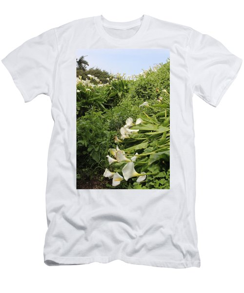 Men's T-Shirt (Slim Fit) featuring the photograph Cali Can You Hear Me by Marie Neder