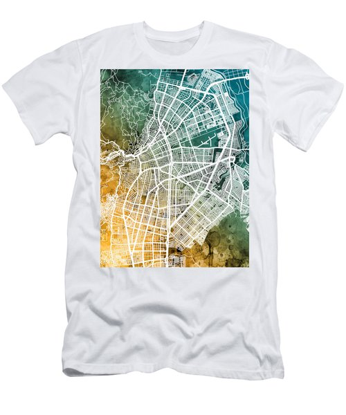 Cali Colombia City Map Men's T-Shirt (Athletic Fit)