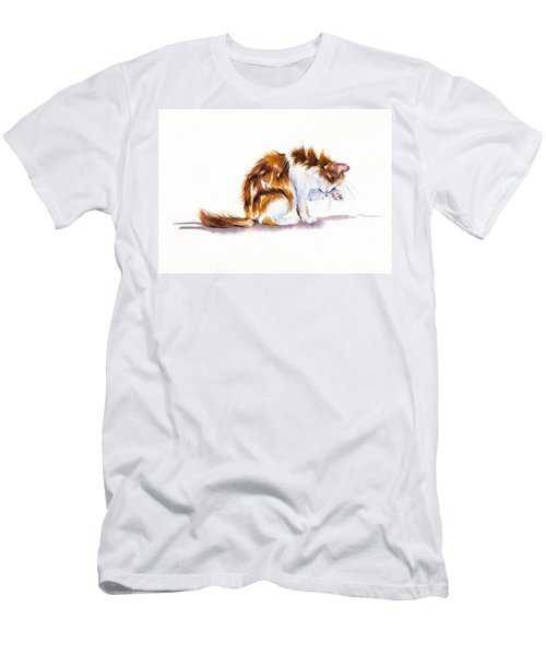 Calico Cat Washing Men's T-Shirt (Athletic Fit)