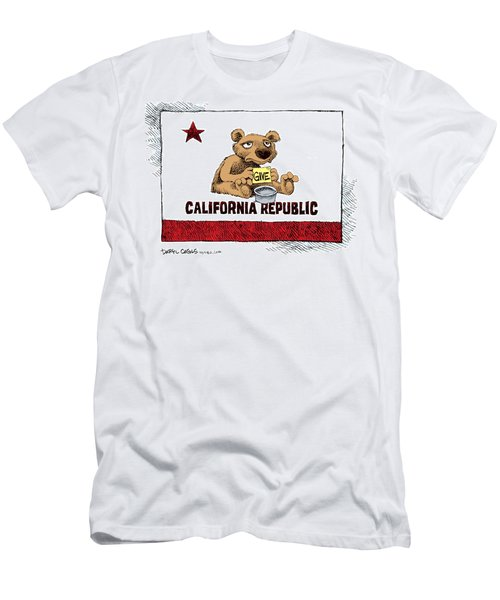 California Budget Begging Men's T-Shirt (Athletic Fit)