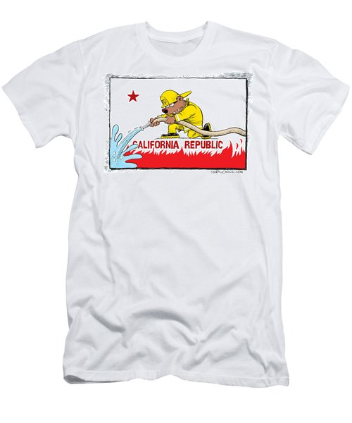 California Firefighter Flag Men's T-Shirt (Athletic Fit)