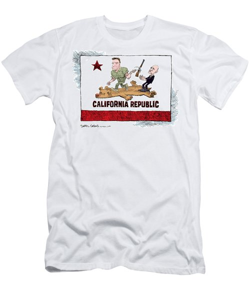 California Governor Handoff Men's T-Shirt (Athletic Fit)