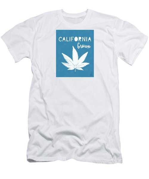 Men's T-Shirt (Athletic Fit) featuring the digital art California Grown Cannabis- Art By Linda Woods by Linda Woods