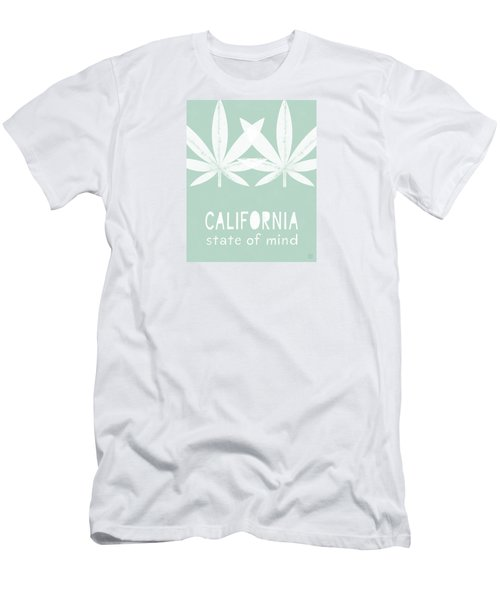 Men's T-Shirt (Athletic Fit) featuring the mixed media California State Of Mind- Art By Linda Woods by Linda Woods