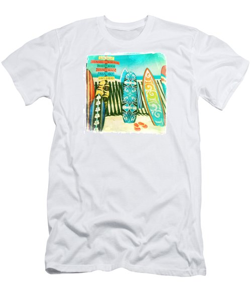 California Surfboards Men's T-Shirt (Slim Fit) by Nina Prommer
